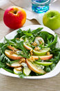 Apple,Rocket and Blue cheese salad Stock Images