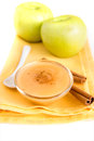 Apple sauce with cinnamon Royalty Free Stock Photo