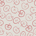 Apple seamless pattern Royalty Free Stock Photography