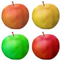 Apple, set Royalty Free Stock Photo