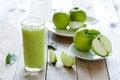Apple shake Royalty Free Stock Photo