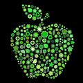 Apple shape Royalty Free Stock Image