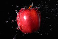 Apple splash fresh with water Royalty Free Stock Photos