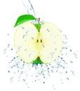 Apple splash isolated on white background Stock Photos