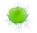 Apple splash isolated on white background Royalty Free Stock Photos
