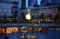 Apple store with logo in cbd of shanghai lujiazui many people are experimenting apples new products ipad mini and iphone taken may Royalty Free Stock Images