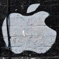 Apple Street Art Royalty Free Stock Photo
