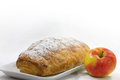 Apple strudel with apple Royalty Free Stock Image