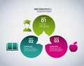 Apple student and book icon. Infographic education design. Vecto