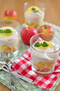 Apple tiramisu dessert home made Royalty Free Stock Photo