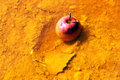 Apple in toxic water Royalty Free Stock Photo