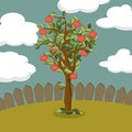Apple tree illustration of a Royalty Free Stock Photos