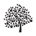 Apple tree - Illustration Royalty Free Stock Photo