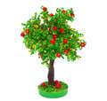The apple-tree made with own hands from beads Royalty Free Stock Photo