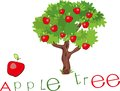 Apple tree with title red and Stock Photography