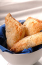 Apple turnovers in a white bowl Royalty Free Stock Photo