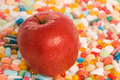 Apple und Tabletten Stockbild