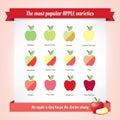 Apple variationer Royaltyfria Bilder
