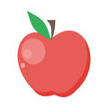 Apple Vector Illustration In Flat Style Design. Royalty Free Stock Photo
