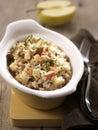 Apple,walnut and gorgonzola risotto Royalty Free Stock Image