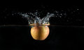 Apple water splash Royalty Free Stock Image