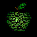 Apple wordcloud Lizenzfreie Stockfotos