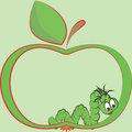 Apple and worm Stock Photos