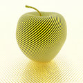 Apple with yellow stripe texture Royalty Free Stock Photography