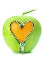 Apple zip Royalty Free Stock Photo