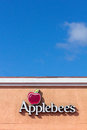 Applebee s restaurant sign salinas ca usa april applebee's is an american company which franchises and operates the Royalty Free Stock Photo