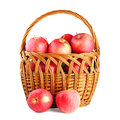 Apples in basket Stock Photography