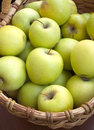 Apples in basket closeup Royalty Free Stock Images
