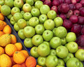 Apples and bergamots at the local market Royalty Free Stock Images