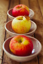 Apples in bowls Royalty Free Stock Photos