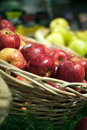 Apples at the grocery store Royalty Free Stock Image