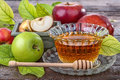 Apples and honey Royalty Free Stock Photo