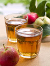 Apples juice Stock Photos