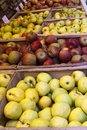 Apples on local market Royalty Free Stock Image