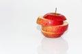 Apples and orange fruit Royalty Free Stock Photo