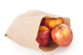 Apples in paper bag Royalty Free Stock Photo