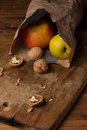 Apples in a paper package Royalty Free Stock Photo