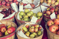 Apples and pears for sale at roadside stand oregon Royalty Free Stock Images