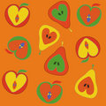 Apples and pears seamless pattern Stock Image