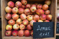 Apples for sale Royalty Free Stock Photo