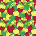 Apples seamless pattern Stock Image