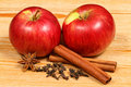 Apples and spices Royalty Free Stock Photo
