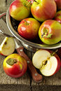 Apples on a wooden table Royalty Free Stock Image