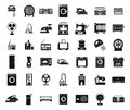 Appliances icon set, simple style Royalty Free Stock Photo