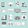 Appliances icons home design Royalty Free Stock Images