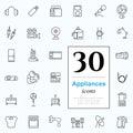 30 Appliances Icons